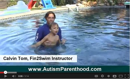 Autism Therapy Fin2swim with Max